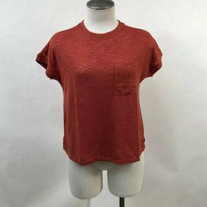 Project Social T Women's Knit Pocket Tee Brick Red